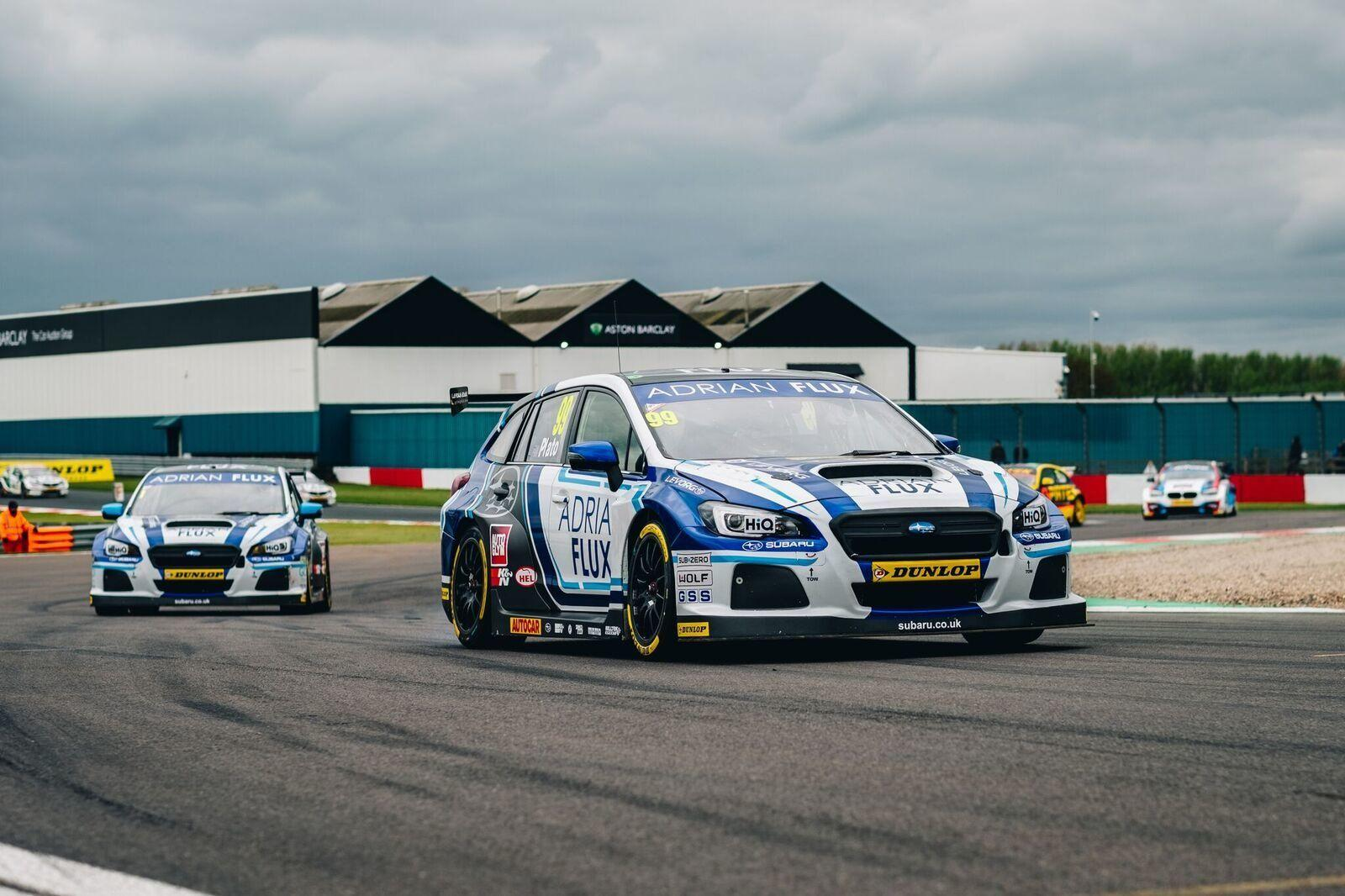 TEAM BMR'S SUBARU LEVORG TRIO IN THICK OF THE ACTION AT DONINGTON PARK
